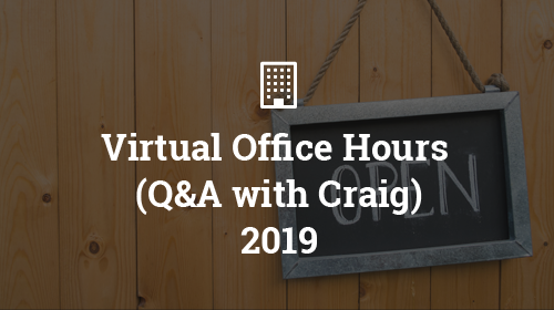 Virtual Office Hours 2019