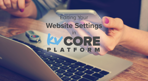 Editing Your Website Settings in kvCORE