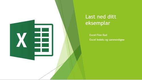 Excel eksempler