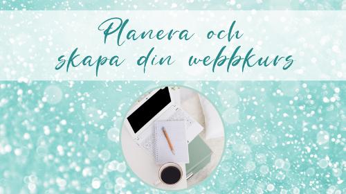 Planera och skapa din webbkurs