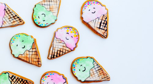 Watercolour Ice Cream Cookie Tutorial