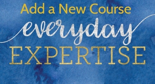 Everyday Expertise - Add a New Course