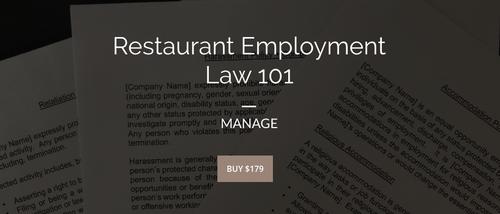Restaurant Employment Law 101 | MANAGE