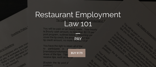 Restaurant Employment Law 101 | PAY