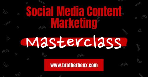 Social Media Content Marketing Masterclass