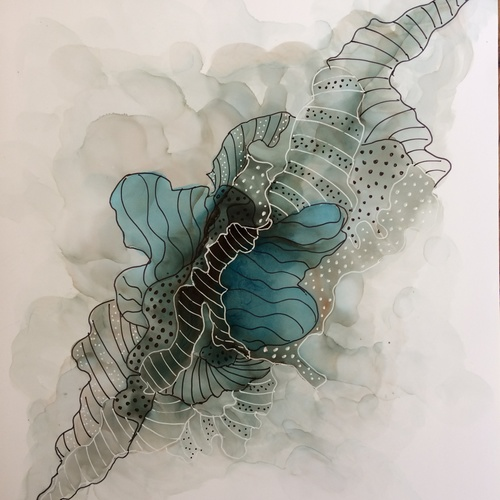 Mini Course Alcohol Ink ZenDoodle | Exploring Fluid Art with Pen and Ink ZenTangle