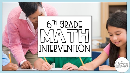 6th Grade Math Intervention Program