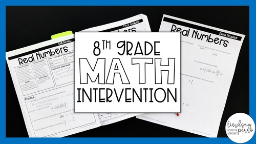 8th Grade Math Intervention Program