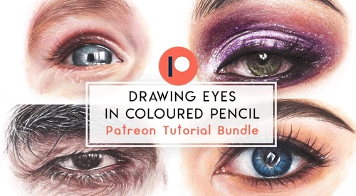 Drawing Eyes in Coloured Pencil