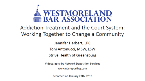 Addiction Treatment and the Court System (1 PA Substantive CLE)