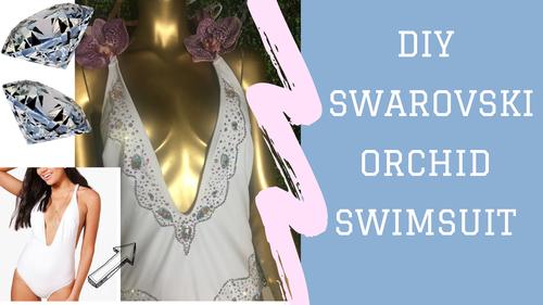 Swarovski Orchid Swim Suit