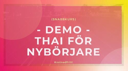 DEMO! Thailändska för Nybörjare (snabbkurs)