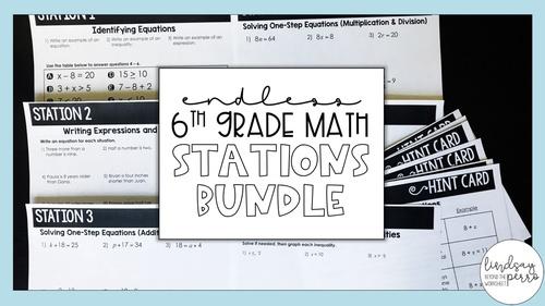 6th Grade Math Stations