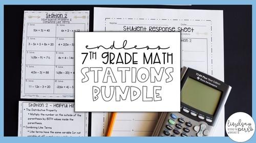 7th Grade Math Stations