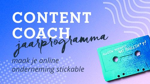 Content coach jaarprogramma