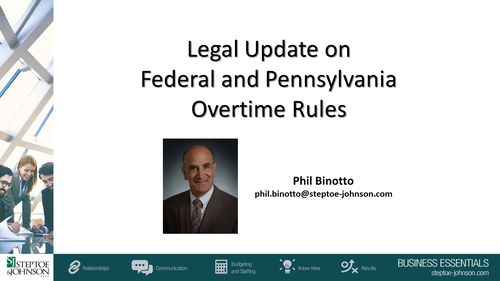 Employment Law: New Wage and Hour Issues (1 PA Substantive CLE Credit)