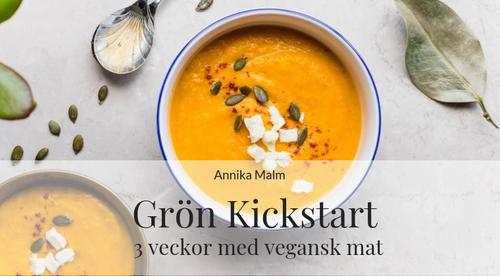 Grön Kickstart - 3 veckor med vegansk mat start 22/4 (kostrådgivning)