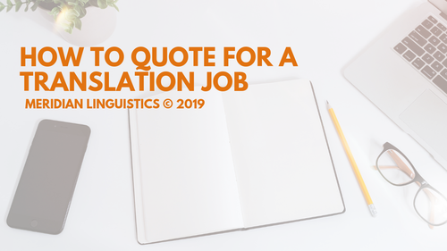How to Quote for a Translation Job