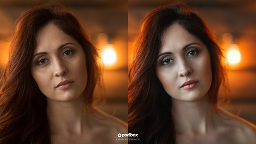 Indoor Portrait Retouching using Camera RAW