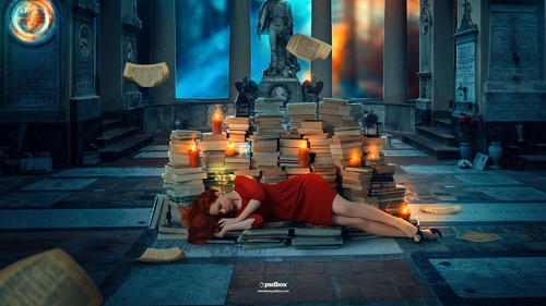 Books - Fantasy Photoshop Manipulation