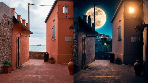 Day to night - Advanced Illumination in Photoshop