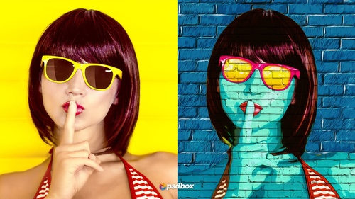 Pop Art Photoshop Portrait Effect