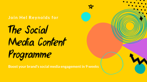 The Social Media Content Programme October 2019