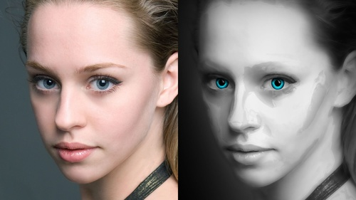 Glossy Porcelain Skin Effect