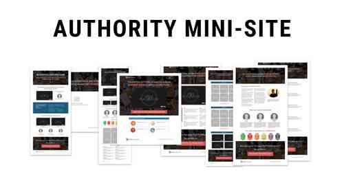 Authority Mini-site