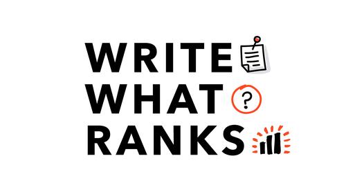 Write What Ranks