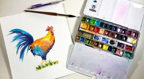 How to paint a Rooster - Easy Painting Project