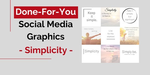 Social Media Graphics - Simplicity