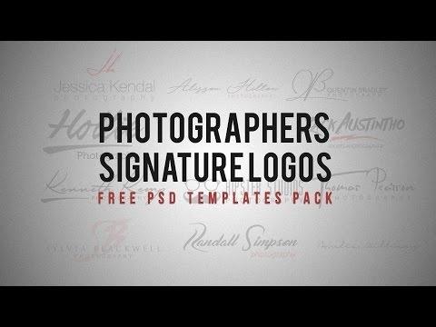 Photography signature logos
