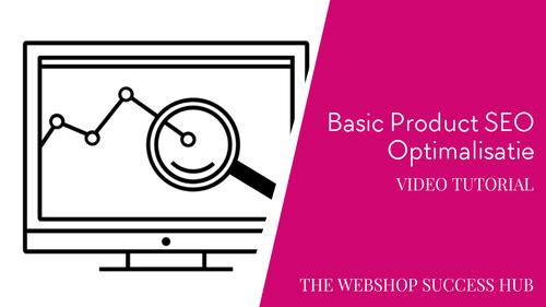 Basic SEO voor Producten (Shopify voorbeeld)
