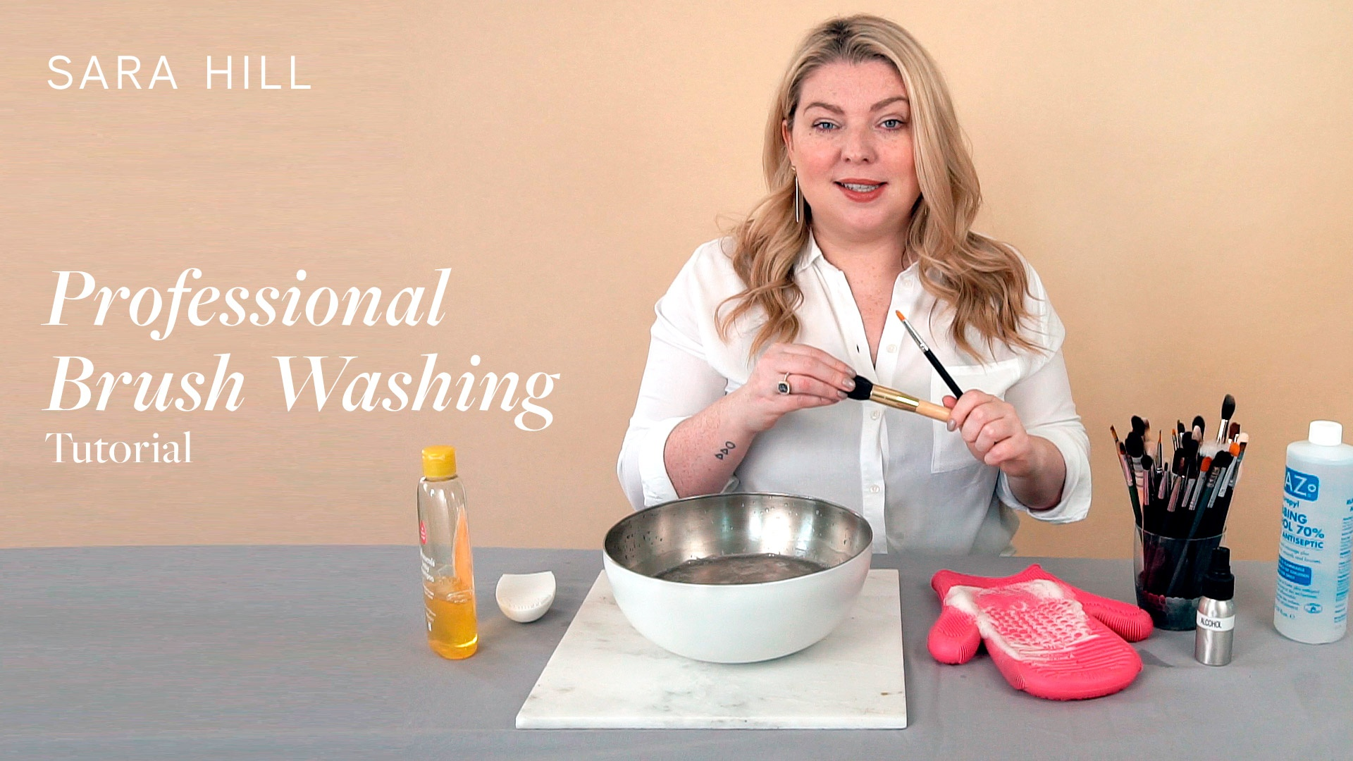 Professional Brush Washing Tutorial