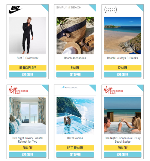 Active discounts on gym equipment, holidays, spa days, beauty and grooming of 10-87%