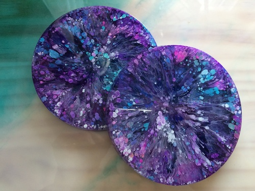 Alcohol Ink and Resin DIY Projects Drink Coasters and Knobs!