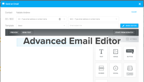 Advanced Email Editor