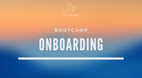 Re:Coded Onboarding
