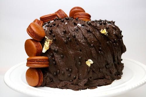 Pastel de Chocolate Coco y Almendra