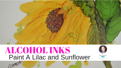Alcohol Ink Lilac and Sunflower