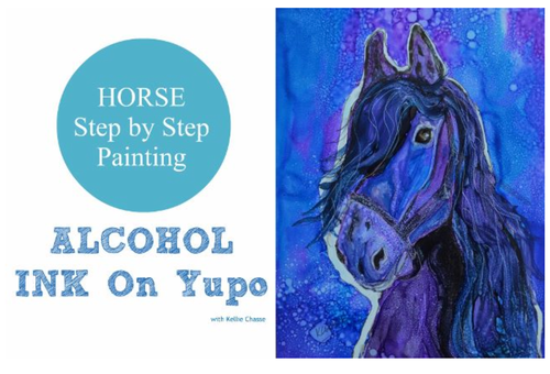 Alcohol Ink Horse Painting Step by Step