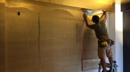 Mastering Metal Leaf Wallcoverings