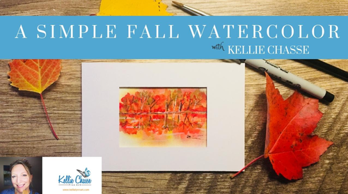 MINI COURSE: SIMPLE FALL REFLECTION WATERCOLOR in an ACEO Size