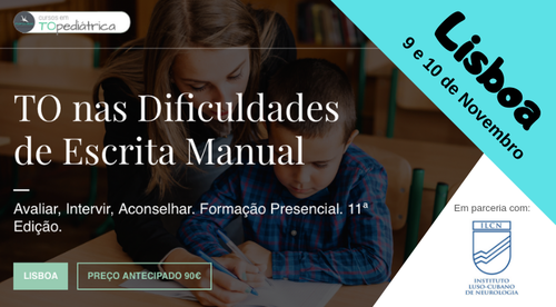 TO nas Dificuldades de Escrita Manual - Lisboa - 9/10.Nov.2019