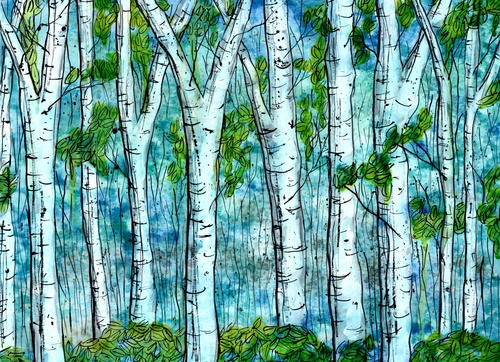 Imaginative Birches