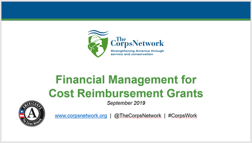 Financial Management for Cost Reimbursement Grants