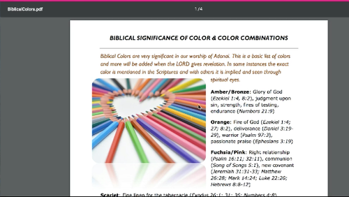 Color Palettes Based on Biblical Color Symbolism