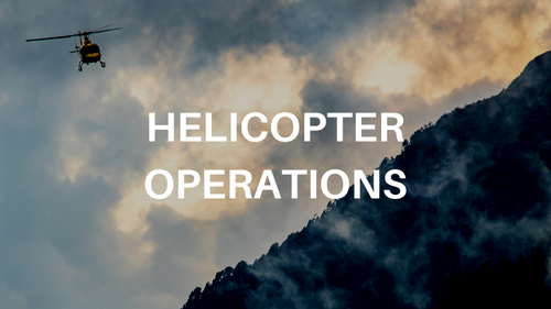 Helicopters for SAR responders