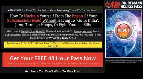 FREE Webinar: How To Unchain Yourself From The Prison Of Your Subconscious Mind